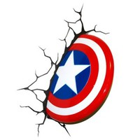 The Avengers 3D Wall Art Nightlight - Captain America
