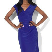 Lauren by Ralph Lauren Faux Wrap Matte Jersey Dress