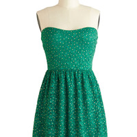 Glittering Emerald Dress | Mod Retro Vintage Dresses | ModCloth.com
