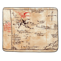 The Hobbit: An Unexpected Journey Thorins Map Micro Raschel Throw