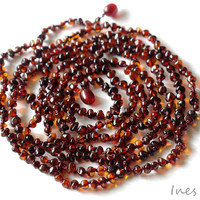Cherry Baltic Amber Necklace, Bracelet Or Anklet