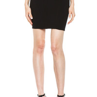 Gala Knit Zip Back Mini Skirt in Black