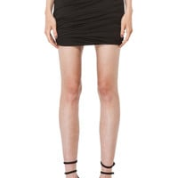 Draped Jersey Skirt in Black