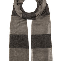 Tiziana Scarf in Grey & Black