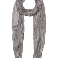 Mita Scarf in Grey & Silver