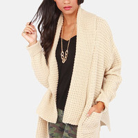 Cardi Party Beige Cardigan Sweater