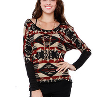 BOHEMIAN NECKLACE KNIT TOP