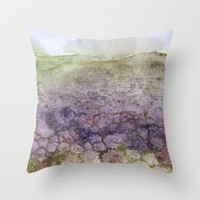 flower field Throw Pillow by rysunki-malunki