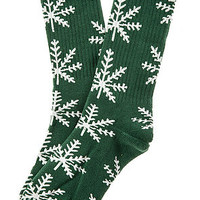 The Nordic Crew Socks in Green