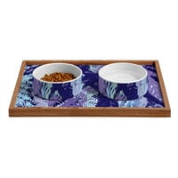 Rosie Brown Amethyst Ferns Pet Bowl and Tray