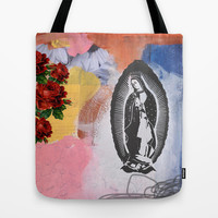 Virgin De Guadalupe Tote Bag by Natalie Baca