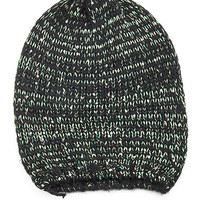 Black Sequined Colored Beanie