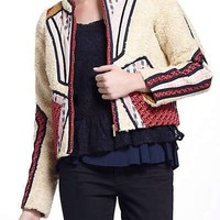 RARE! SOLD OUT Anthropologie Cartonnier Neva Patchwork Jacket size 6