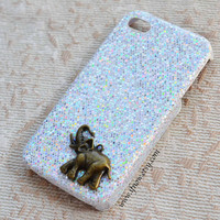 elephant Glitter iPhone 5 Case, iphone 4,4s case