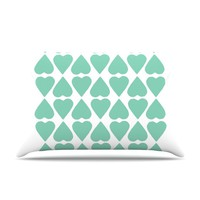 KESS InHouse Diamond Hearts Throw Pillow