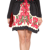 Valentino R.E.D. - Wool Blend Intarsia Knit Dress in Black Multi
