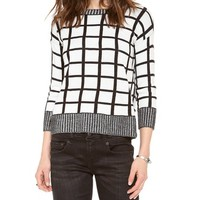 Dakota Collective Roxana Window Pane Sweater