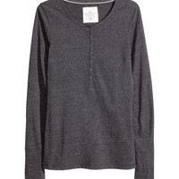 Melange Jersey Top - from H&M
