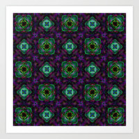 Purple Pattern Fractal Art Art Print by Hippy Gift Shop