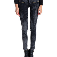 Klique B - Mineral Washed Zippered Skinny Jeans