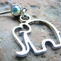 Elephant Belly Ring Navel Piercing Body Jewelry Belly Button Jewelry