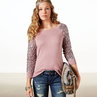 AE SEQUIN SLEEVE SWEATER