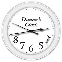Dancer's Time Clock - Ballet Ballerina - Dance Studio - GIRLS BEDROOM DECOR GIFT
