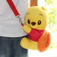 "DISNEY CROSSBODY WINNIE THE POOH MINI BAG 9.5"" LIMITED EDITION.SALE !!! SALE !!!! LOWEST PRICE & FREE US SHIPPING. ORDER SOON."