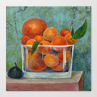 tangerines Stretched Canvas by Marianna Tankelevich