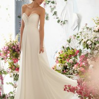 Voyage by Mori Lee 6762 Chiffon Wedding Dress