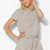 BDG Knit Stripe Romper- Black