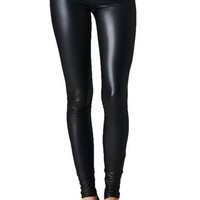Zoe Leather Look Leggings - Black - $38.00 | Daily Chic Bottoms | International Shipping