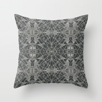 Frozen Black Throw Pillow by Project M