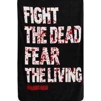 The Walking Dead Fight The Dead Fleece Throw