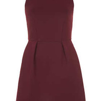 BONDED ZIP SKATER DRESS
