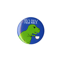 Tea Rex Pin