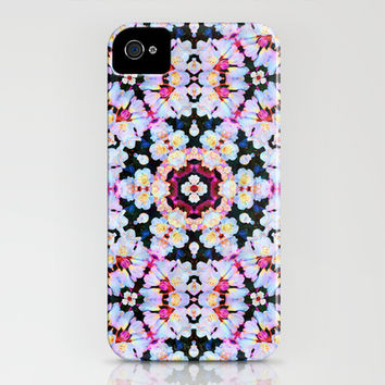 Kaleidoscope Flowers iPhone & iPod Case by ALJ Art & Design