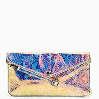 Cobra Hologram Envelope Clutch