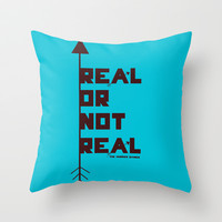 Real or not Real Throw Pillow by Lauren Lee Designs