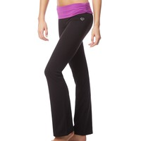 RUCHED WAISTBAND BOOTCUT LEGGINGS