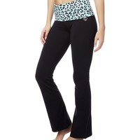 ANIMAL PRINT BOOTCUT YOGA PANTS