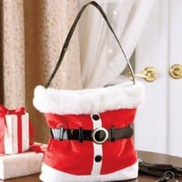 Holiday Handbag, Santa, Red, Santa Purse, Christmas Bag