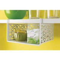 Design Ideas Vinea Under Shelf Basket, White