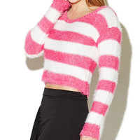 Stripe Eyelash Sweater