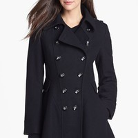 Via Spiga Double Breasted Wool Blend Military Coat | Nordstrom