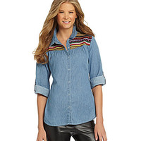 GB Chambray Woven Blouse | Dillards.com