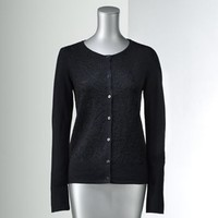 Simply Vera Vera Wang Lurex Textured Cardigan