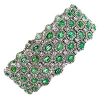 Spectacular Emerald and Diamond Bracelet