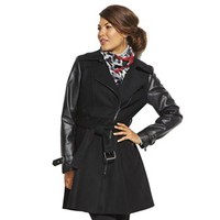 Giacca Mixed-Media Wool-Blend Coat