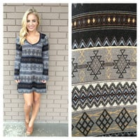 Grey All In One Knit Dress